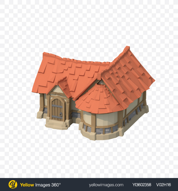 Download Low Poly House Transparent PNG on Yellow Images 360°