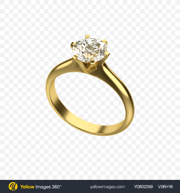 Download Golden Ring With Diamond Transparent Png On Yellow Images 360