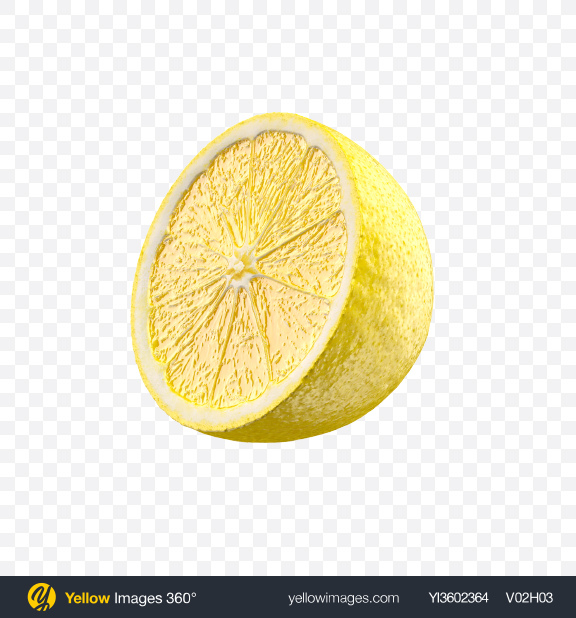 Download Half of Lemon Transparent PNG on Yellow Images 360°