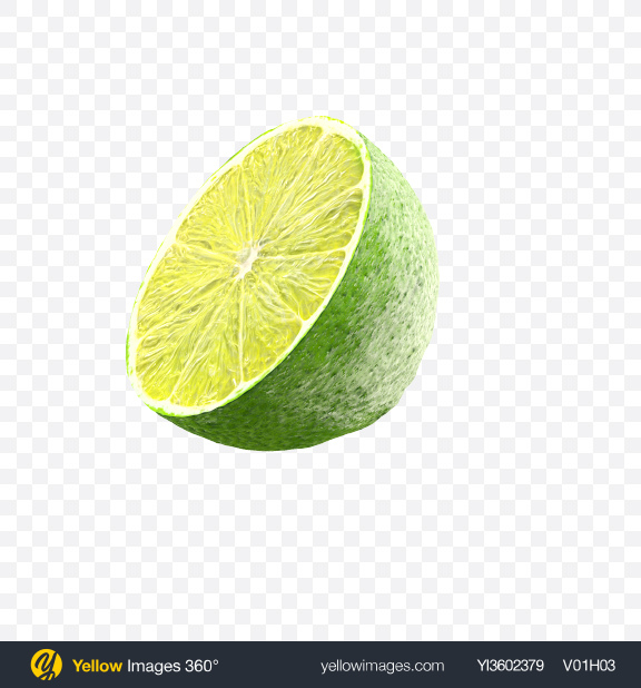 Download Half of Lime Transparent PNG on Yellow Images 360°