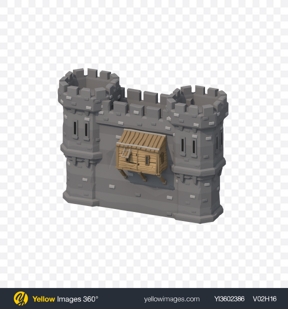 Download Low Poly Castle Wall Transparent PNG on PNG Images
