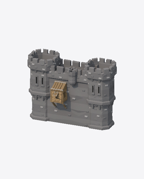 Low Poly Castle Wall