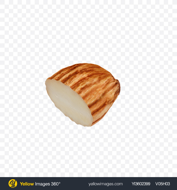Download Almond Half Transparent PNG on Yellow Images 360°