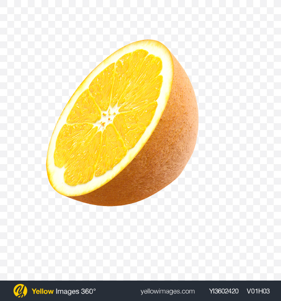Download Half of Orange Transparent PNG on Yellow Images 360°