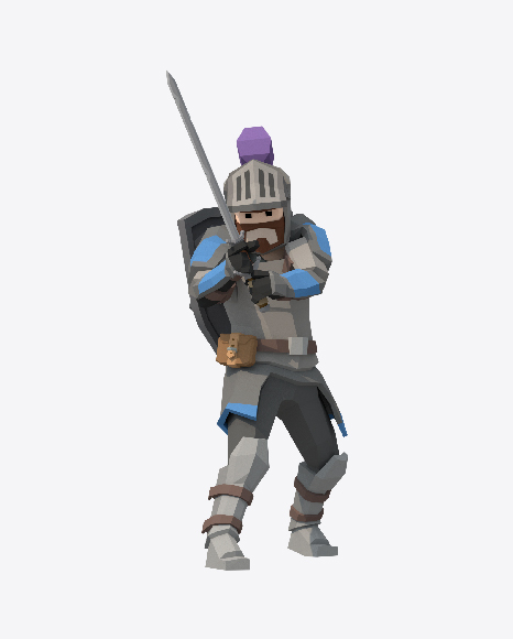 Low Poly Knight Sword Attack