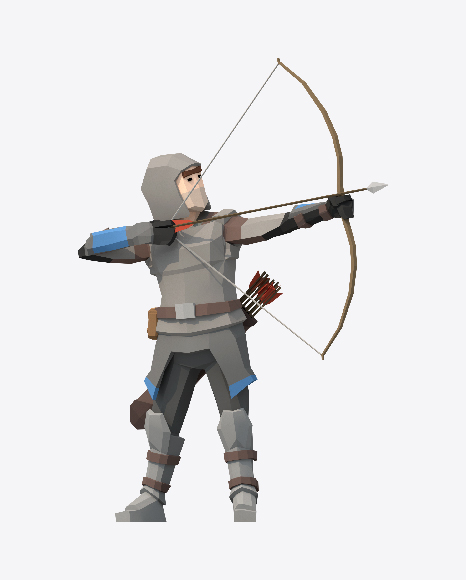 Low Poly Archer Aiming