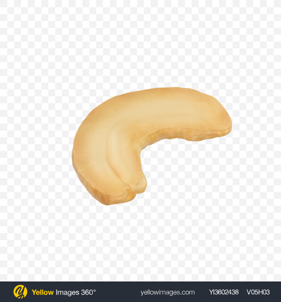 Download Cashew Half Transparent PNG on Yellow Images 360°