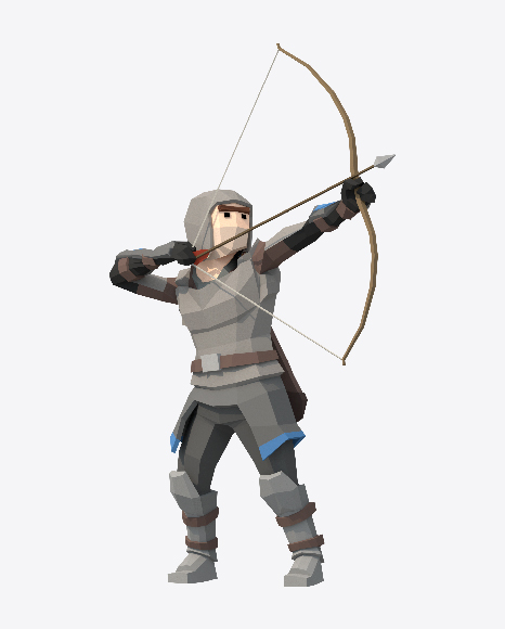 Low Poly Shooting Archer