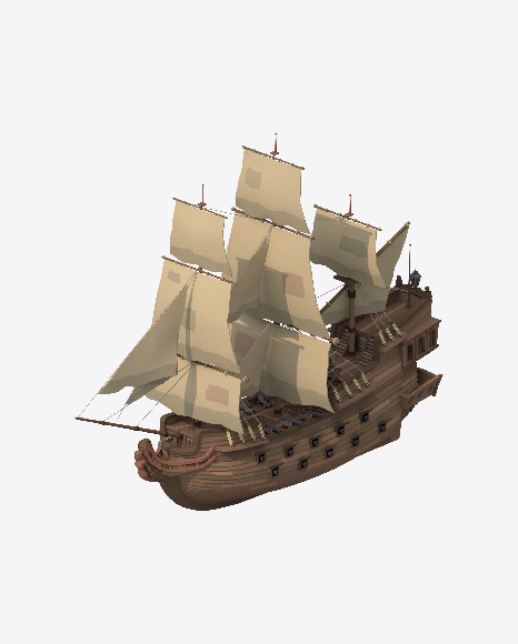 Low Poly Sailing Ship
