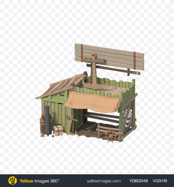 Download Low Poly Store Transparent PNG on YELLOW Images