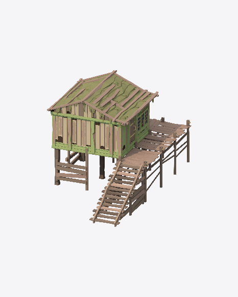 Low Poly Beach Hut