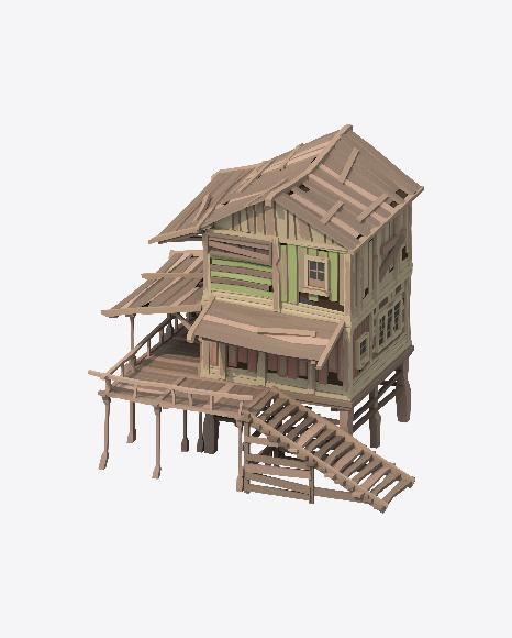 Low Poly Beach Hut