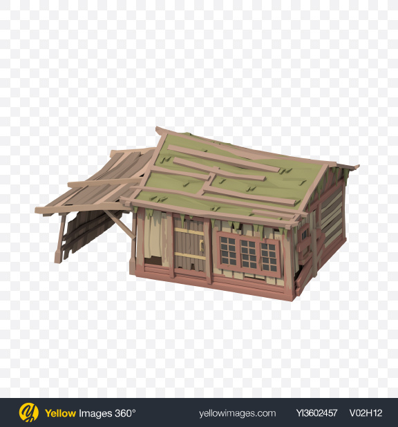 Download Low Poly Beach Hut Transparent PNG on Yellow Images 360°