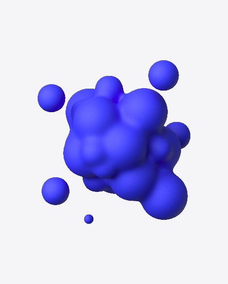 Blue Matte Metaball