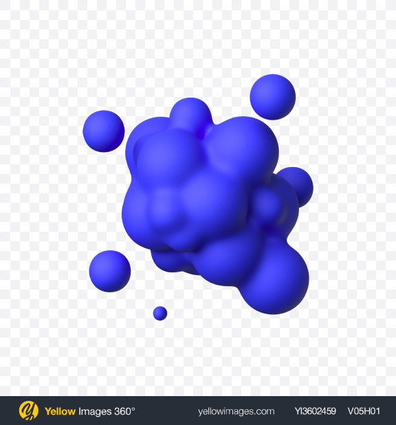 Download Blue Matte Metaball Transparent PNG on Yellow Images 360°