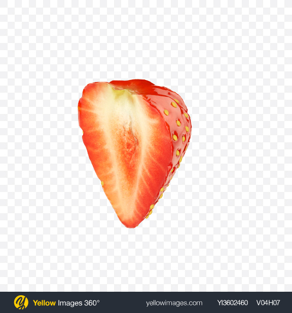 Download Strawberry Half Transparent PNG on Yellow Images 360°