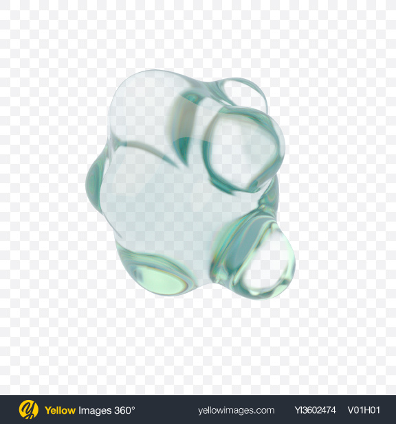 Download Glass Metaball Transparent PNG on Yellow Images 360°
