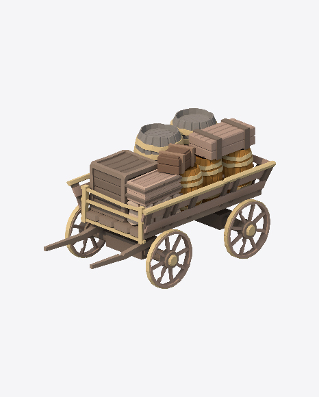Low Poly Cart