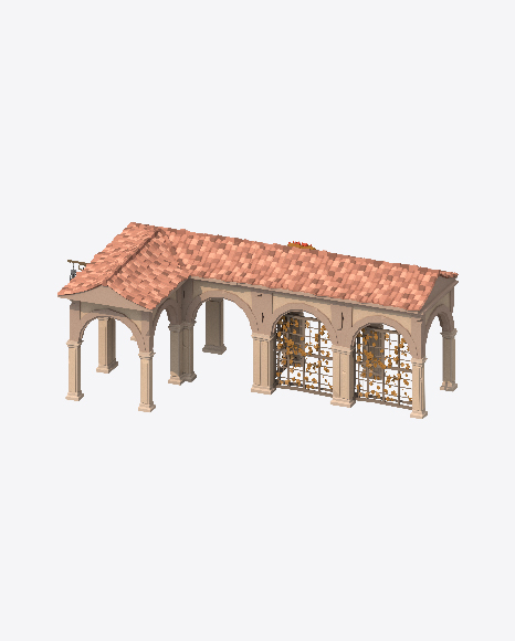 Low Poly Arched Construction