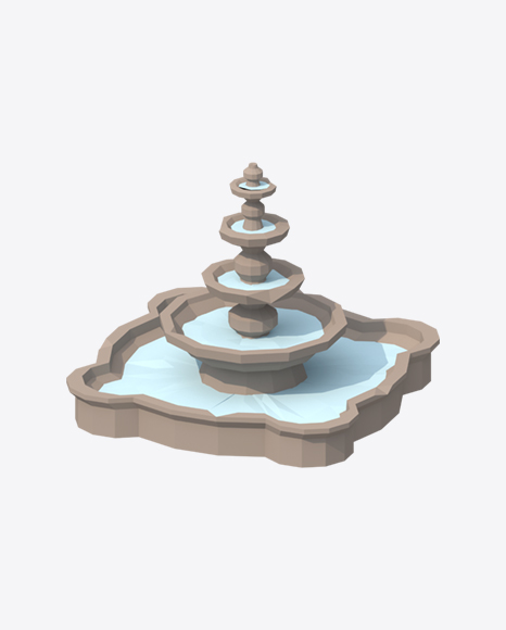 Low Poly Fountain
