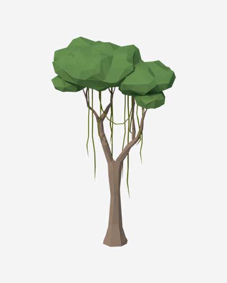 Low Poly Liana Tree