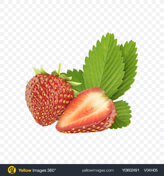 Download Strawberries Transparent PNG on Yellow Images 360°