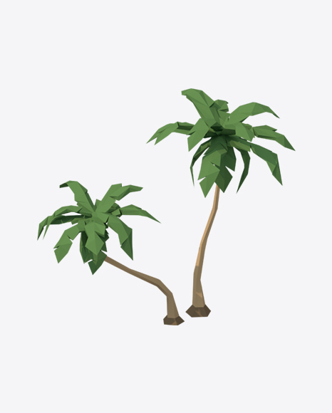 Low Poly Palm Trees