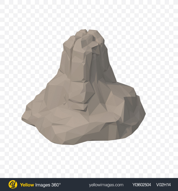 Download Low Poly Rock Transparent PNG on Yellow Images 360°