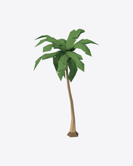 Low Poly Palm Tree
