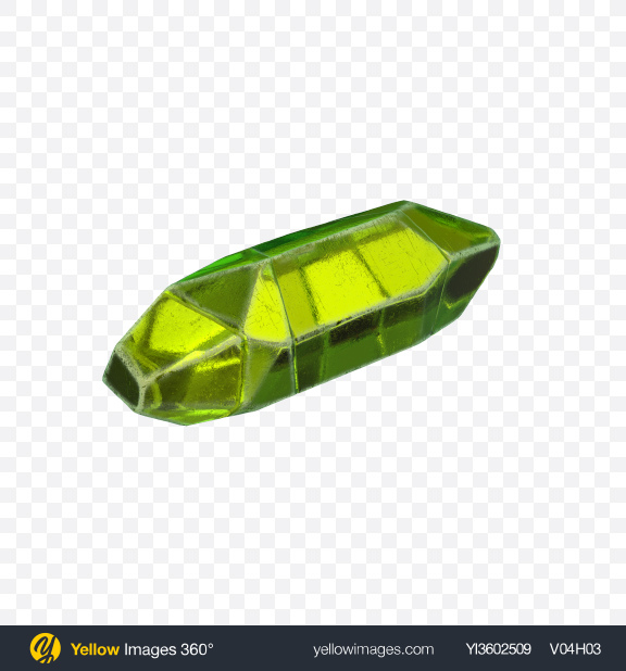 Download Green Crystal Transparent PNG on Yellow Images 360°