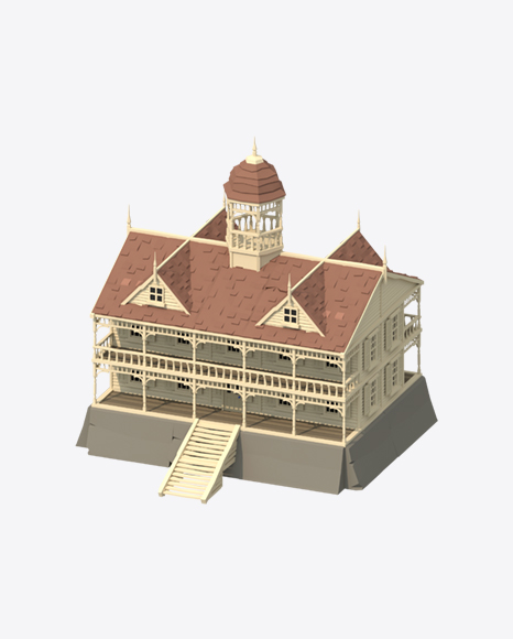 Low Poly Mansion