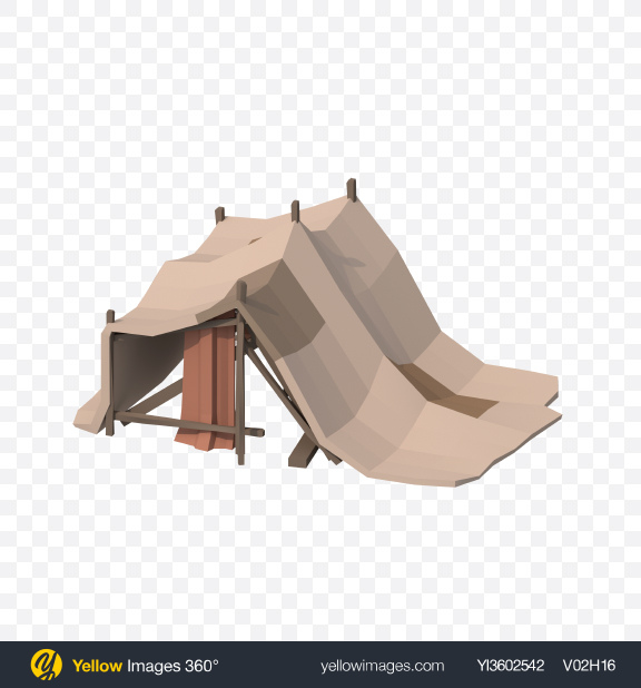 Download Low Poly Hut Transparent PNG on Yellow Images 360°