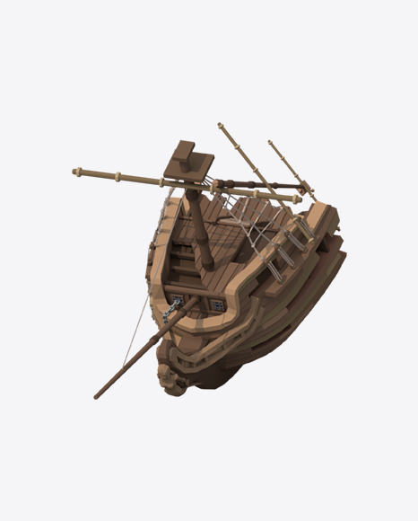 Low Poly Wrecked Ship
