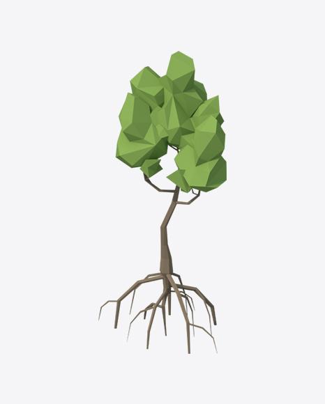 Low Poly Mangrove Tree