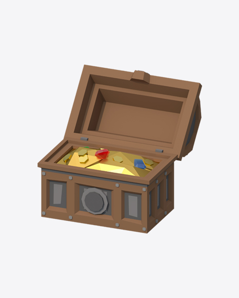 Low Poly Opened Treasure Chest