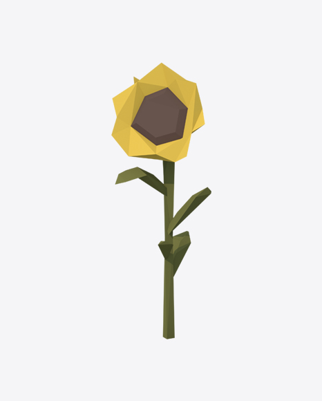 Low Poly Sunflower