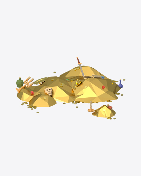 Low Poly Treasure Pail