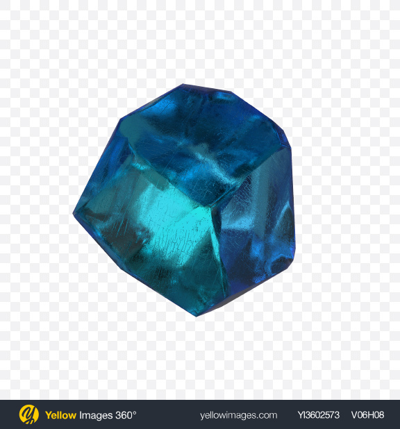 Download Blue Gemstone Transparent PNG on Yellow Images 360°