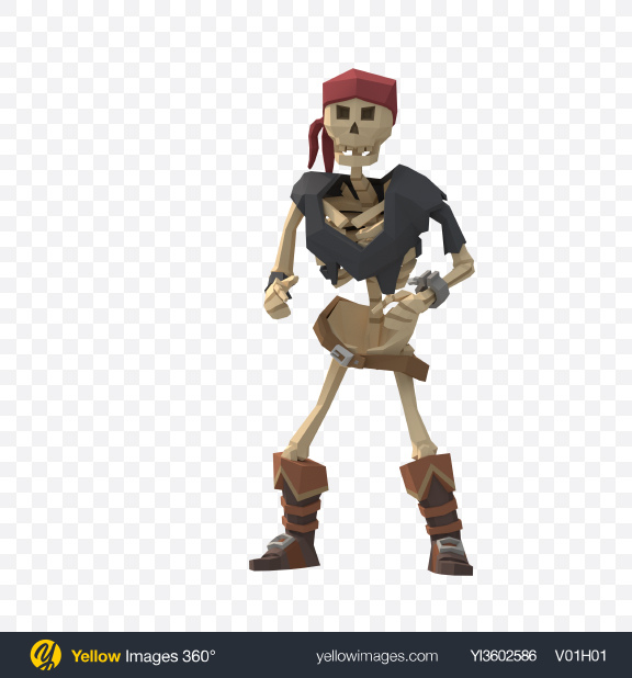 Download Low Poly Skeleton Hitting Transparent PNG on YELLOW Images
