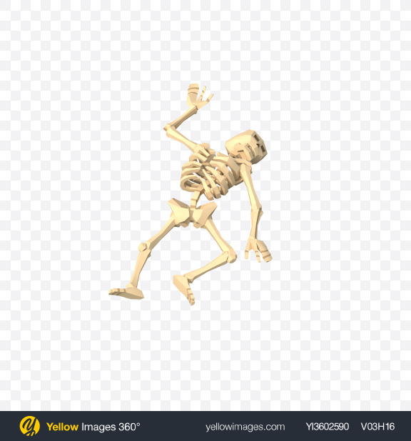 Download Low Poly Lying Skeleton Transparent PNG on Yellow Images 360°