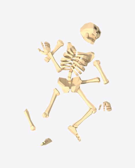 Low Poly Broken Skeleton