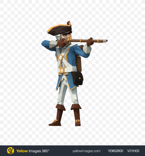 Download Low Poly Aiming Soldier Transparent PNG on YELLOW Images