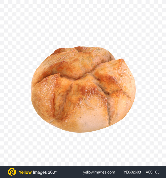 Download Vienna Round Bread Transparent PNG on Yellow Images 360°