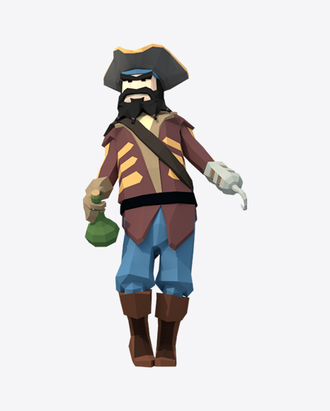 Low Poly Drunk Pirate