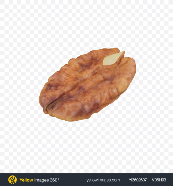 Download Pecan Half Transparent PNG on Yellow Images 360°