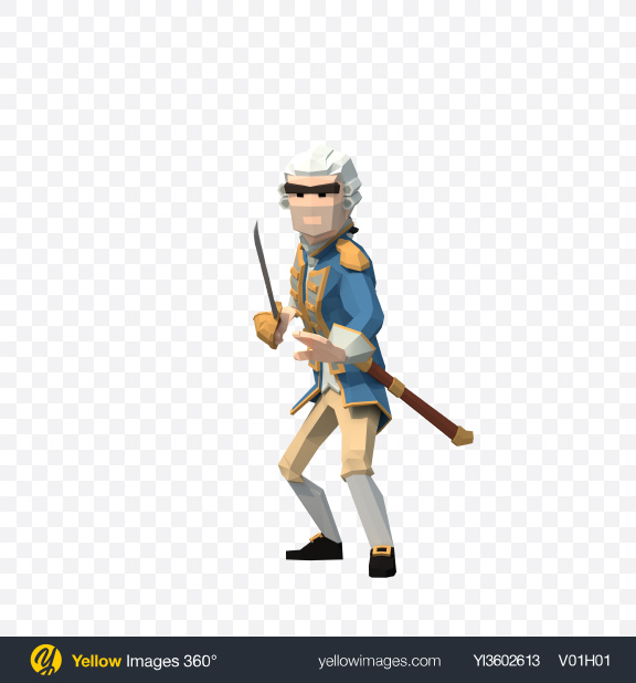 Download Low Poly Attacking Governor Transparent PNG on Yellow Images 360°