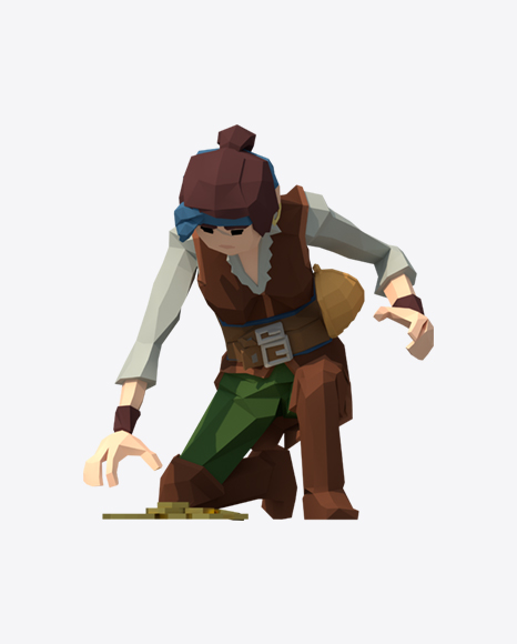 Low Poly Pirate Lady