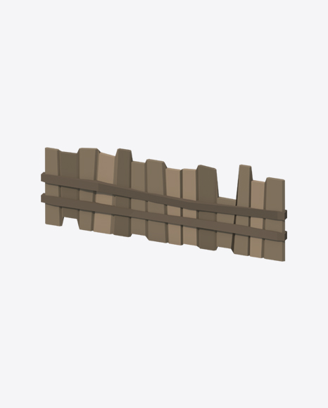 Low Poly Rickety Wood Fence