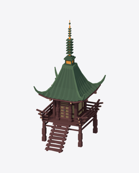 Low Poly Small Temple