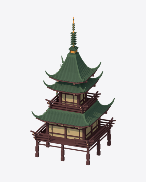 Low Poly Big Temple